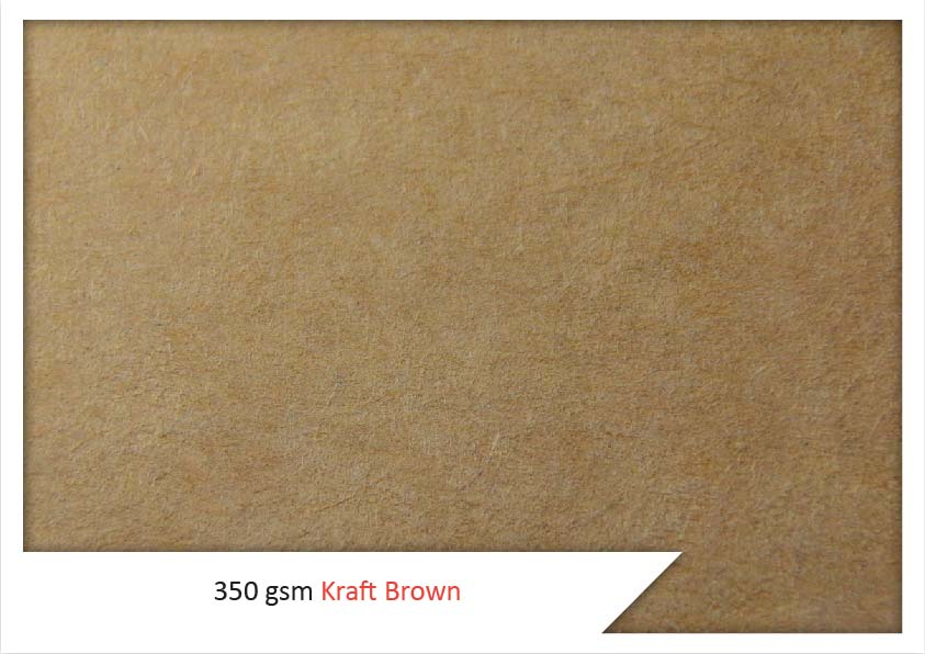 350 Gsm Kraft Brown