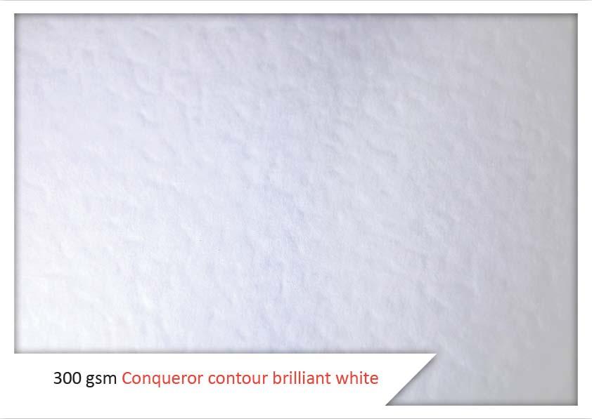 300 Gsm Conqueror contour brilliant white
