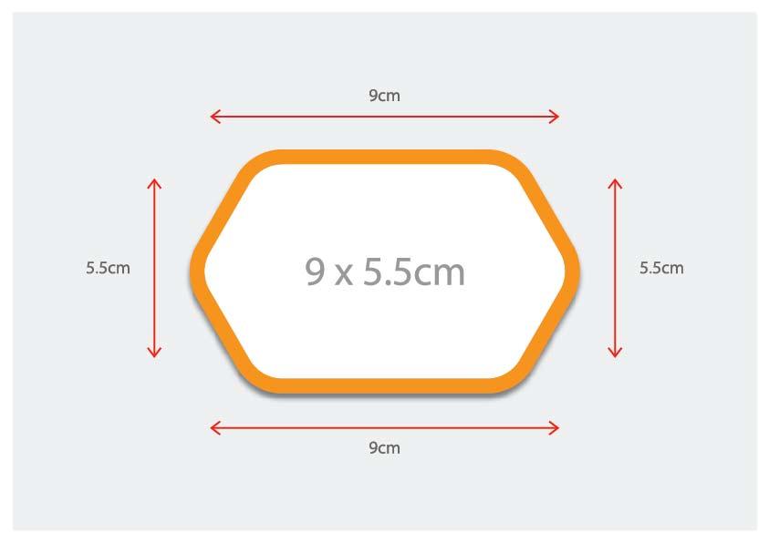 Hexagon shaped card