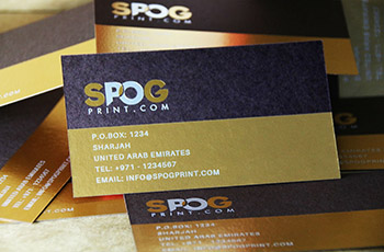 2 Colour Foil Business cards