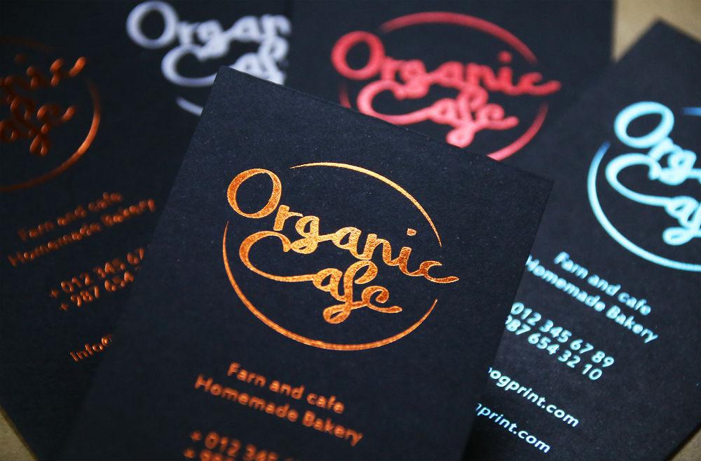 Color Foil Business Cards 1