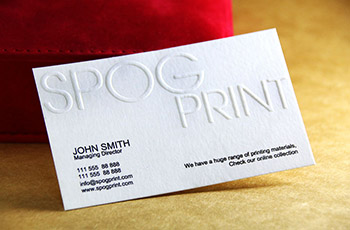 Emboss Business Cards #0001