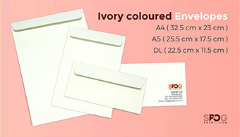 Ivory coloured envelopes