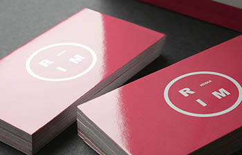 Glossy Laminated Business Cards