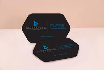 Hexagon Shape Business Cards