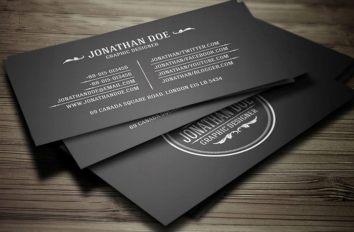 Infinity Black Business Cards 2