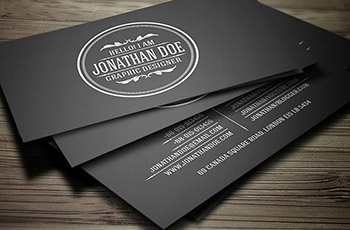Infinity Black Business Cards