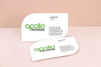 Leaf Shape Business Cards
