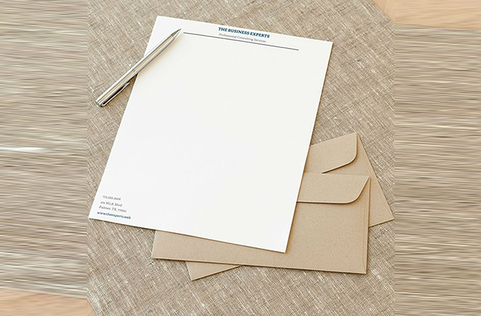 Special Textured Letterhead 1