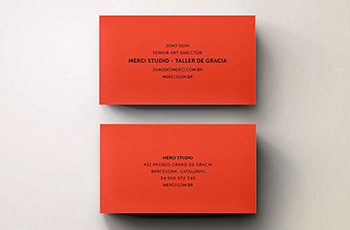 Plike Red Business Cards