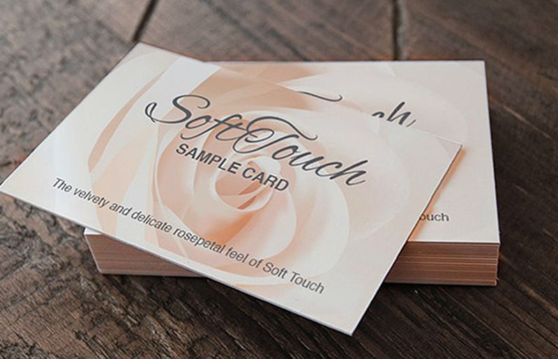 Soft Touch Laminated Business Cards 1