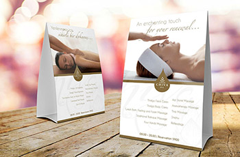 Foiled Tent Cards