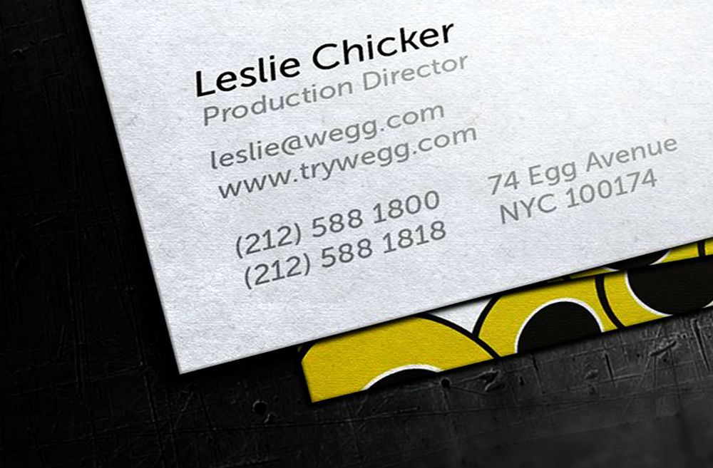 Uncoated Business Cards 1