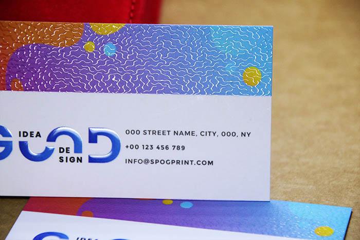 3D Spot UV Business Cards #0002 3