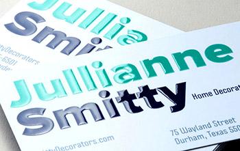 3D Spot UV Business Cards #0002